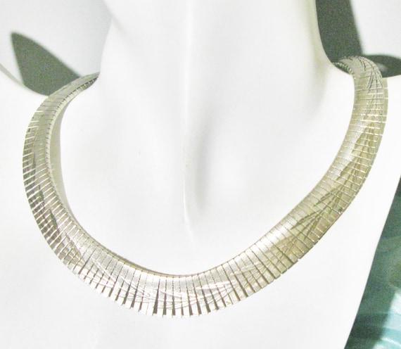 Fabulous Egyptian Revival Necklace Cleopatra Gold Tone Collar Statement Wedding Vintage Mid Century Retro