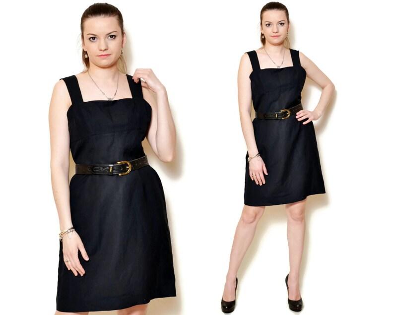 1996e8a673 90s sun dress sexy short black sundress linen dresses empire
