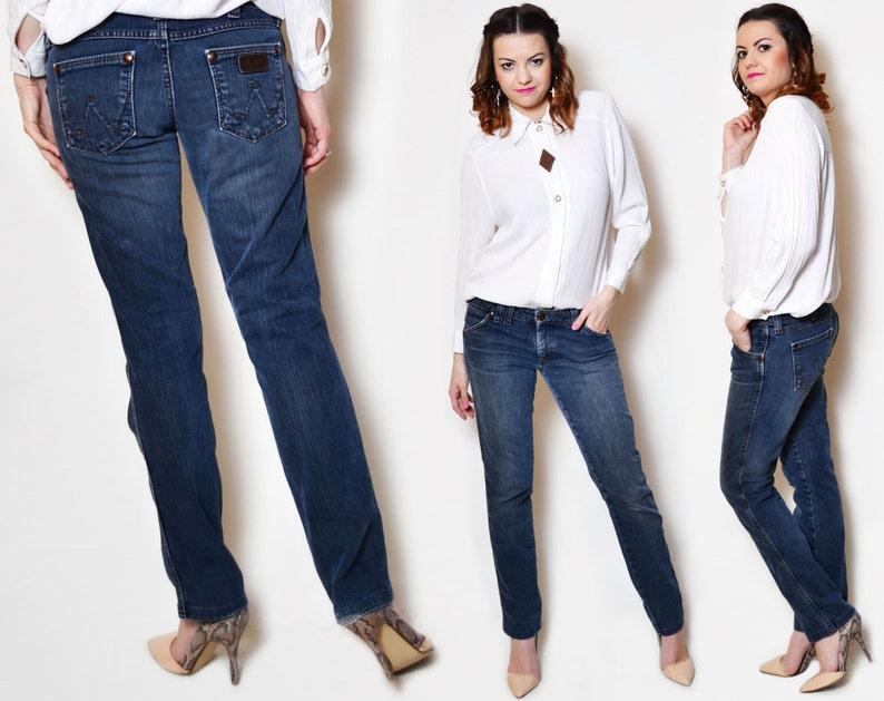 f086841b03 90s jeans vintage low rise woman low cut jean pants denim vintage straight  leg cotton wrangler tight ...