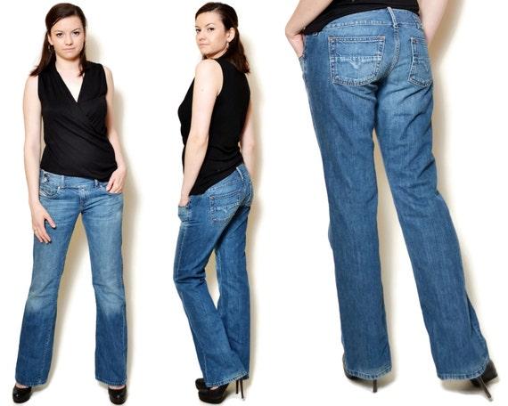90a20769 Low rise jeans women diesel jeans Women denim pants vintage | Etsy
