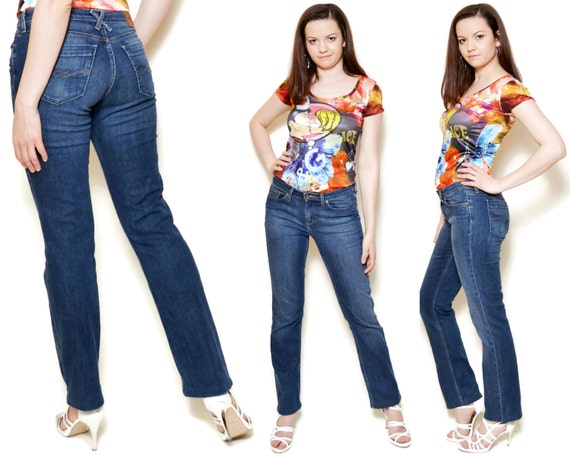 jeans a vita bassa Tommy Hilfiger lungo Vintage Blu Navy Women  ee0a6e3725e
