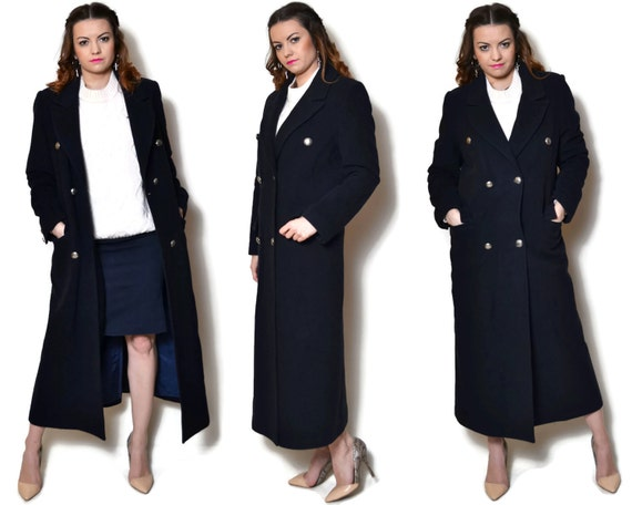 Giusto Decimale Definitivo  Wool coat cashmere coat retro coat womens clothing made in | Etsy