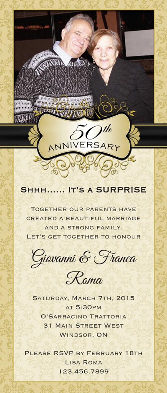 Surprise Wedding Anniversary Invitation 10 Or 9 375 X Etsy