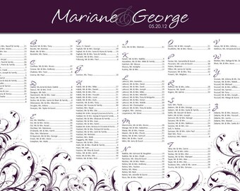 Wedding Seating Chart 24x36