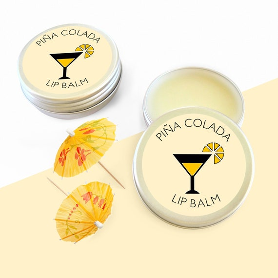 Pina Colada Natural Lip Balm Cocktail Gift For Her Birthday