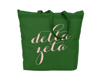 Bid Day Bag Comfort Colors Brit and Bee Canvas Sorority Tote Bag DZ Bag Delta Zeta Tote Bag Sorority Gift Big Little Sister