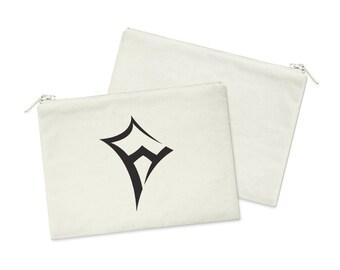 af0c614608 KAO Kappa Alpha Theta Kite Canvas Cosmetic Bag Sorority Zipper Pouch