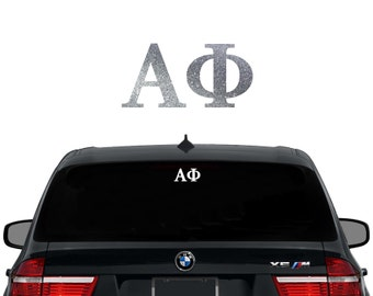 alpha phi greek letters sorority decal laptop sticker car decal