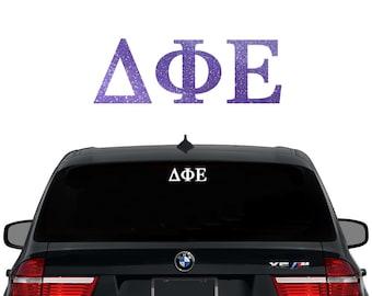 DPhiE Delta Phi Epsilon Greek Letters Sorority Decal Laptop Sticker Car Decal