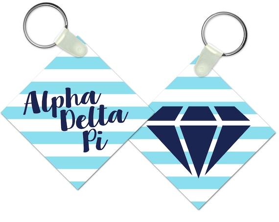 ADPi Alpha Delta Pi Diamond Sister Keychain Sorority Gift Sorority Keychain