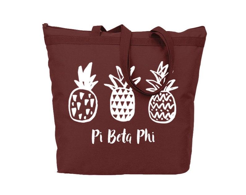 PiPhi Pi Beta Phi Pineapple Tote Sorority Gift Sorority Tote Choose Your Colors!
