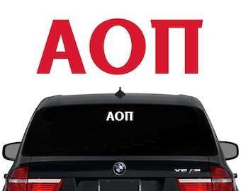 AOII Alpha Omicron Pi Greek Letters Sorority Decal Laptop Sticker Car Decal