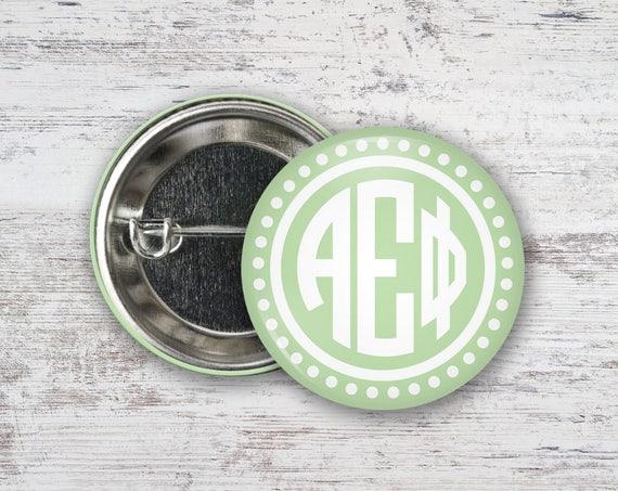 Alpha Phi Circle Letter Single or Bulk 2.25 Pinback Button