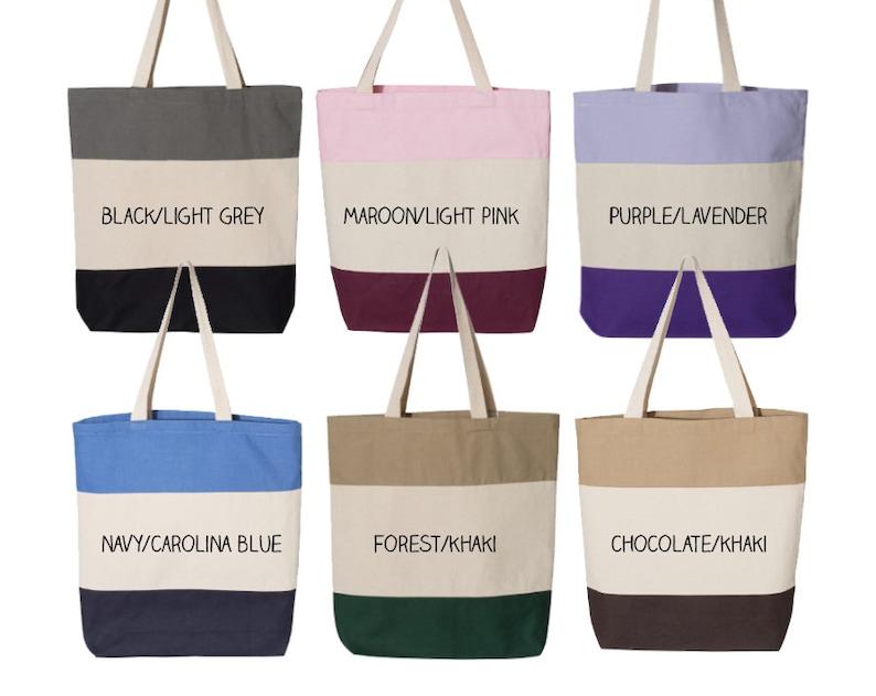 GPB Gamma Phi Beta Tri Color Tote Sorority Gift Sorority Tote Choose Your Colors!