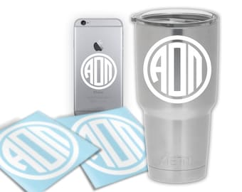 AOII Alpha Omicron Pi Circle Letter Decal Laptop Sticker Car Decal Phone Case Tumbler Decal