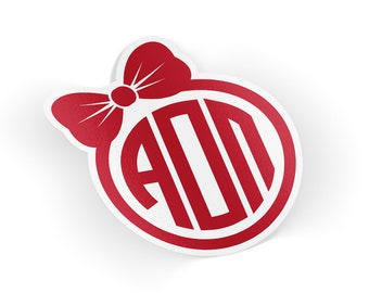 AOII Alpha Omicron Pi Bow Monogram Sticker