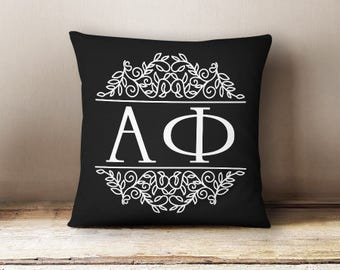 Alpha Phi Scroll Letters Pillow Choose Your Pillow Color