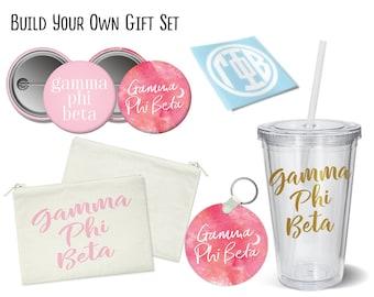 GPB Gamma Phi Beta Build Your Own Gift Set Sorority Bid Day Graduation Big Little