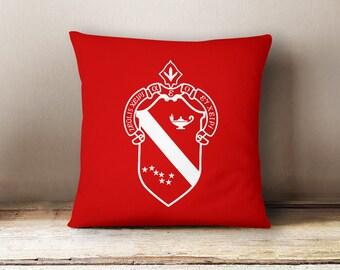 Alpha Phi Crest Pillow Choose Your Pillow Color