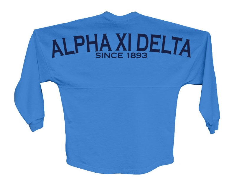 AXiD Alpha Xi Delta Since Jersey Choose Your Colors Sorority image 0
