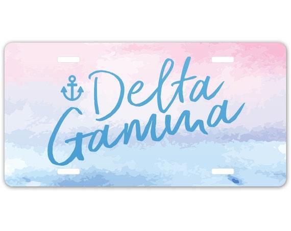 Delta Gamma Floral Motto Luggage Tag