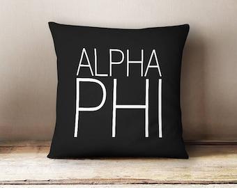 Alpha Phi Simple Pillow Choose Your Pillow Color