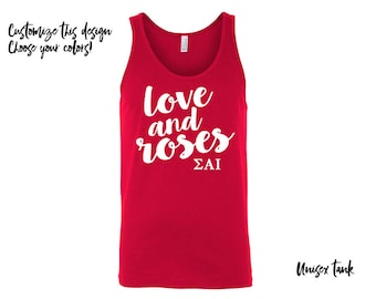 SAI Sigma Alpha Iota Unisex Tank Choose Your Colors