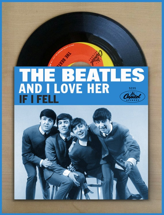 THE BEATLES And I Love Her bw If I Fell Capitol Fantasy 45 picture sleeve