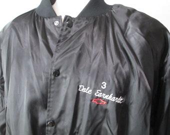 Vintage Mens Dale Earnhardt Sr. #3 Snap Button Jacket ~Old School~ Size: XL ~Rare~