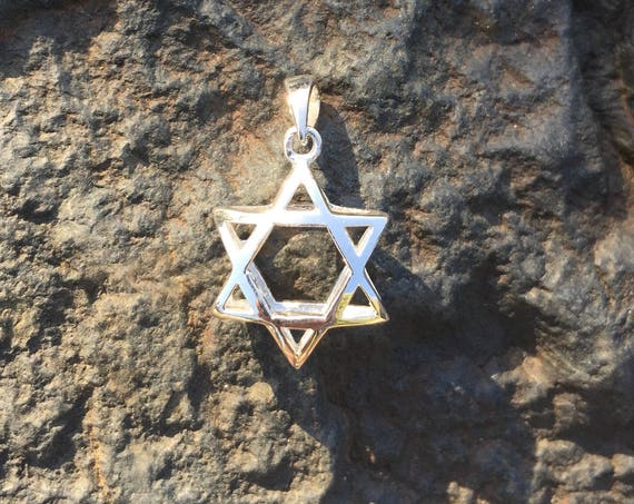 Sterling Silver Star of David Pendant - #7