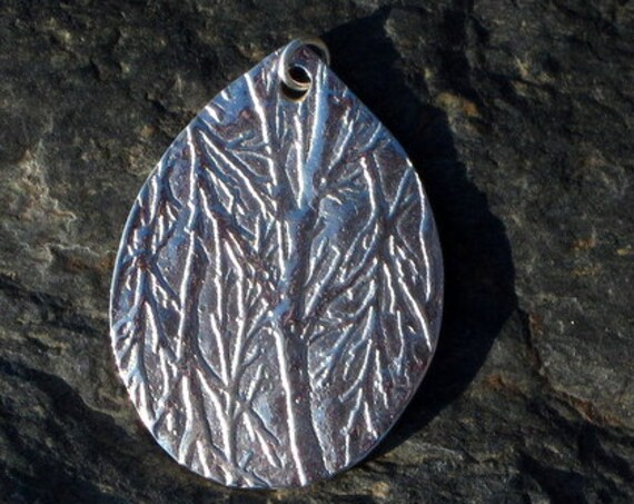 "Fine Silver ""Into The Woods"" Pendant - #298"