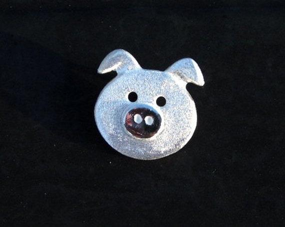 Sterling Silver Piggy Pendant - #308
