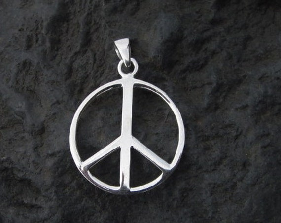 "Sterling Silver ""PEACE"" Pendant - #510"