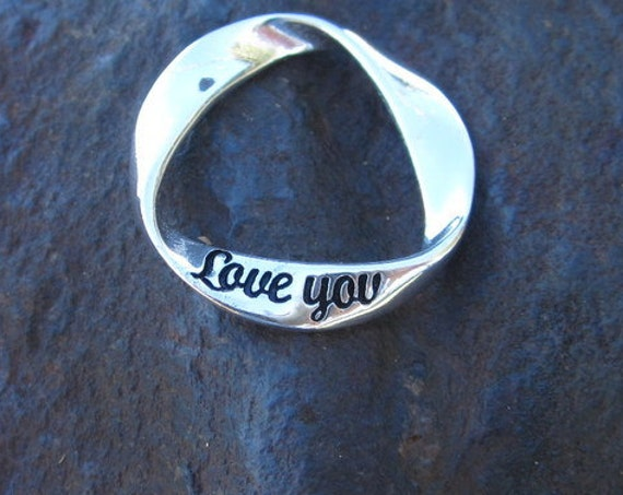 "Sterling Silver ""Love You"" Pendant - 464"