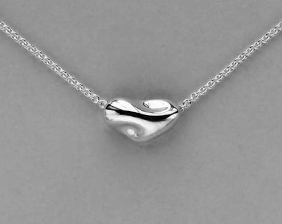 Sterling Silver Sliding Heard Necklace - #335