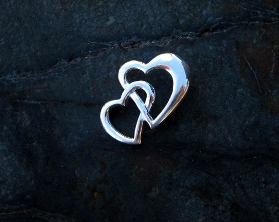 Sterling Silver Interlocking Heart Pendant - #358