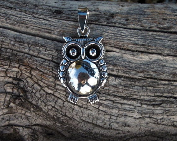 "Sterling Silver ""Wise Old Owl"" Pendant - #313"