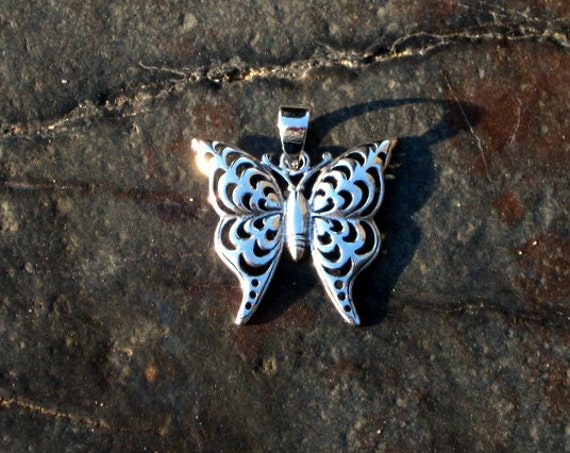 Sterling Silver Butterfly Pendant - #306