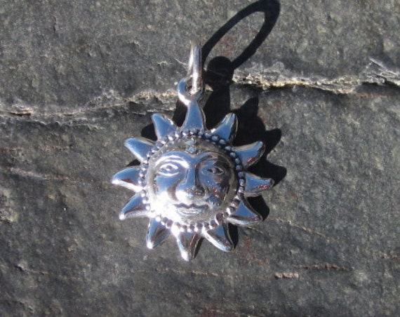 Sterling Silver Small Sun Pendants - #463