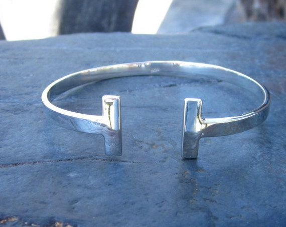 Sterling Silver Adjustable Cuff Bracelet - #472