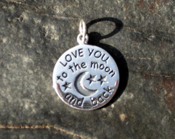 Sterling Silver Love You To The Moon and Back Pendant - #164