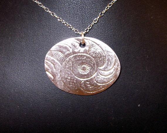 Fine Silver Seashell Pendant - #228
