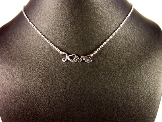 Sterling Silver LOVE Choker Necklace - #451