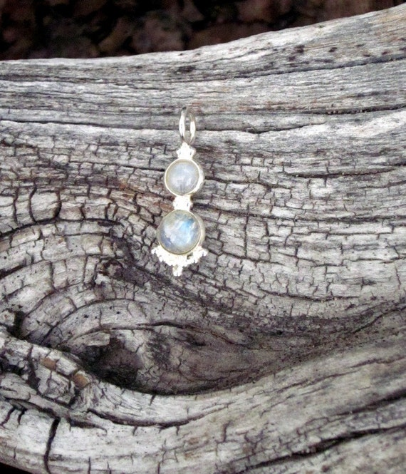 Moonstone & Sterling Silver Pendant - #163