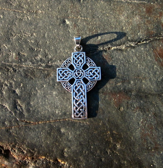 Sterling Silver Celtic Cross Pendant - #299