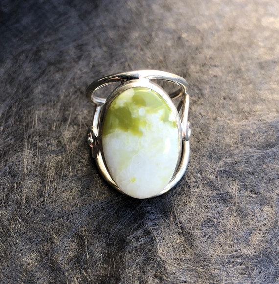 Serpentine & Sterling Silver Signature Ring