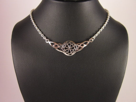 Sterling Silver Celtic Choker Necklace - #456