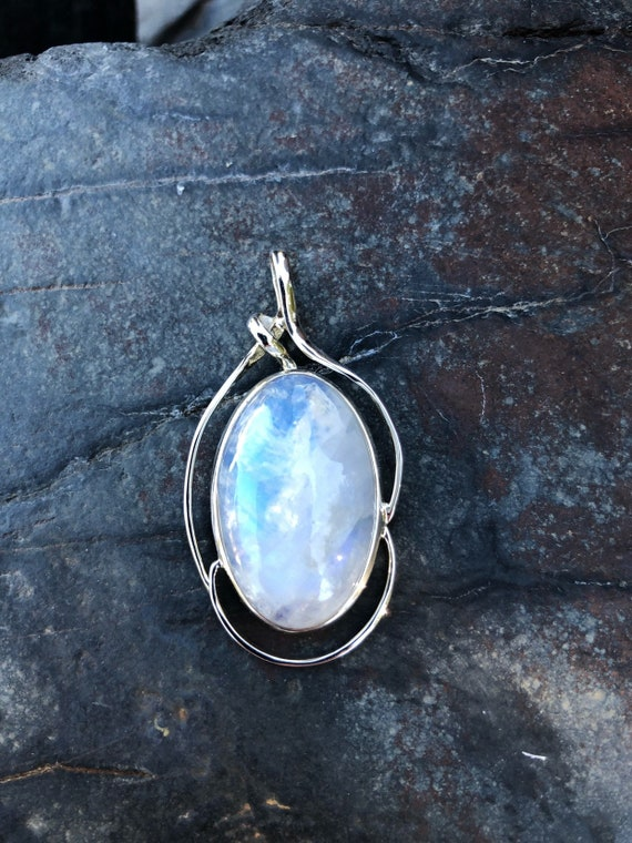 Moonstone & Sterling Silver Pendant