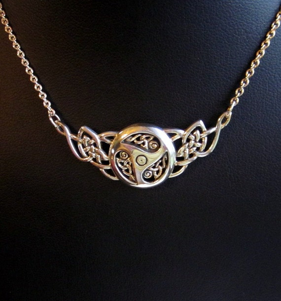 Sterling Silver Celtic Knots Threefold Necklace - #296