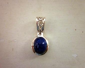 Lapis Lazuli & Sterling Silver Pendant - #37